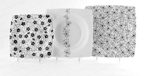 Обзор стильных наборов черно-белой посуды