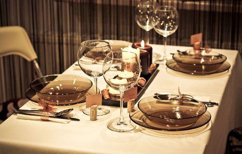 Коричневая стеклянная посуда