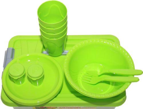 Обзор наборов посуды зеленого цвета